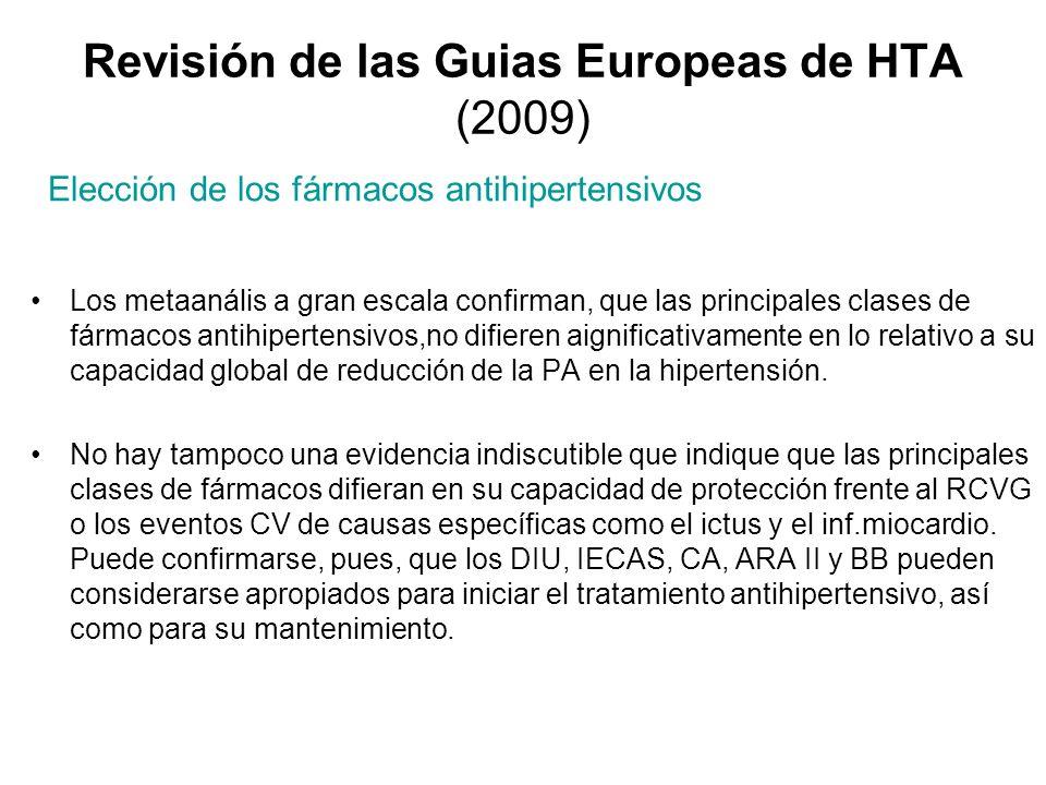 Revisión de las Guias Europeas de HTA (2009)