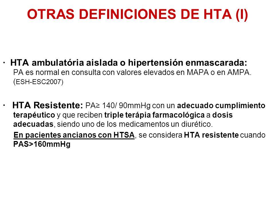 OTRAS DEFINICIONES DE HTA (I)
