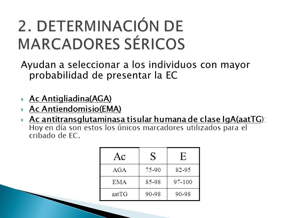 2. DETERMINACIÓN DE MARCADORES SÉRICOS