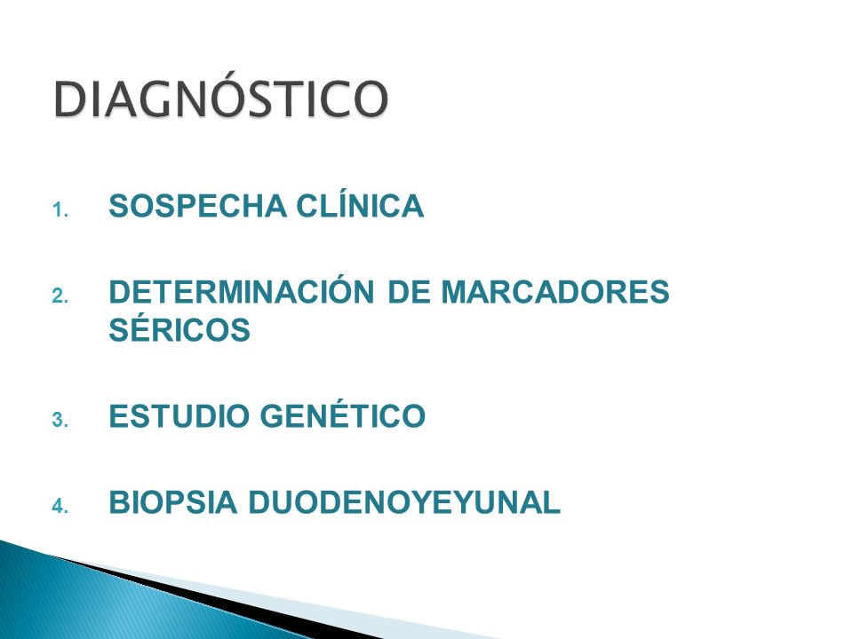 DIAGNÓSTICO SOSPECHA CLÍNICA DETERMINACIÓN DE MARCADORES SÉRICOS