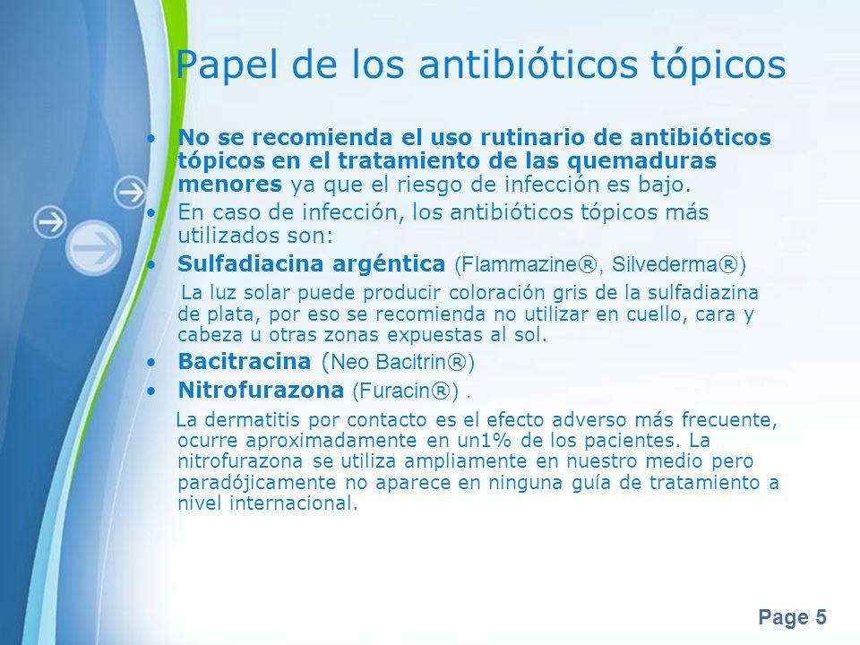 Papel de los antibióticos tópicos
