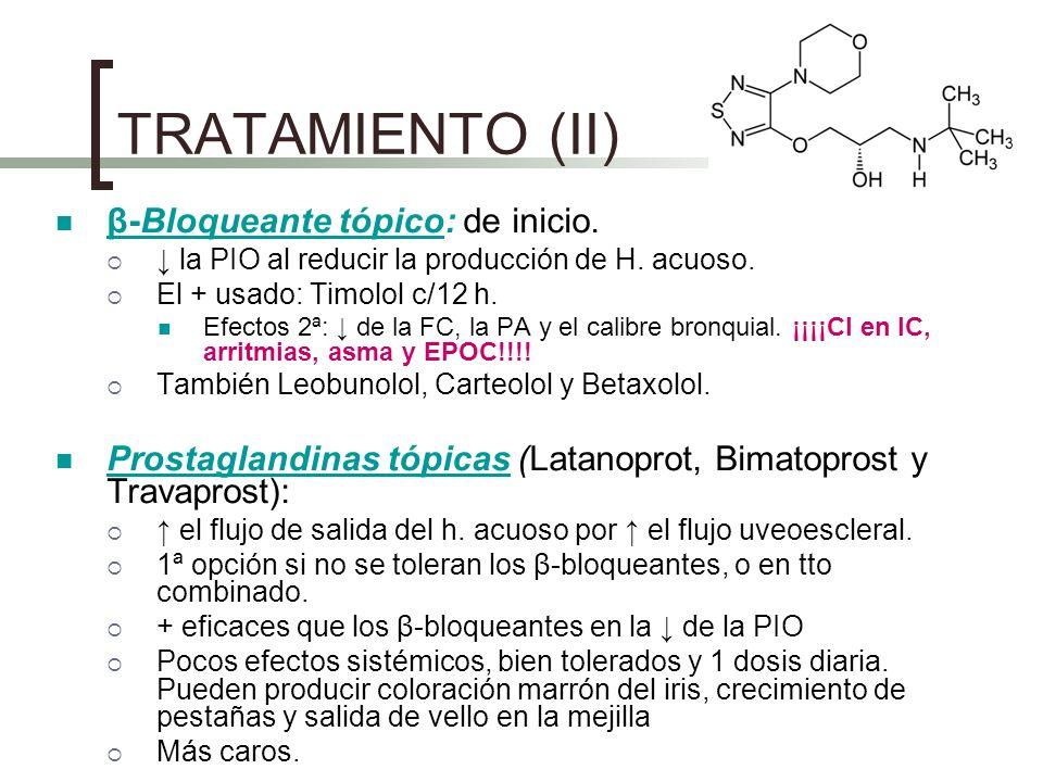 TRATAMIENTO (II) β-Bloqueante tópico: de inicio.