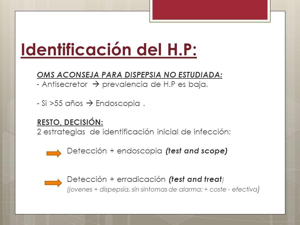 Identificación del H.P: