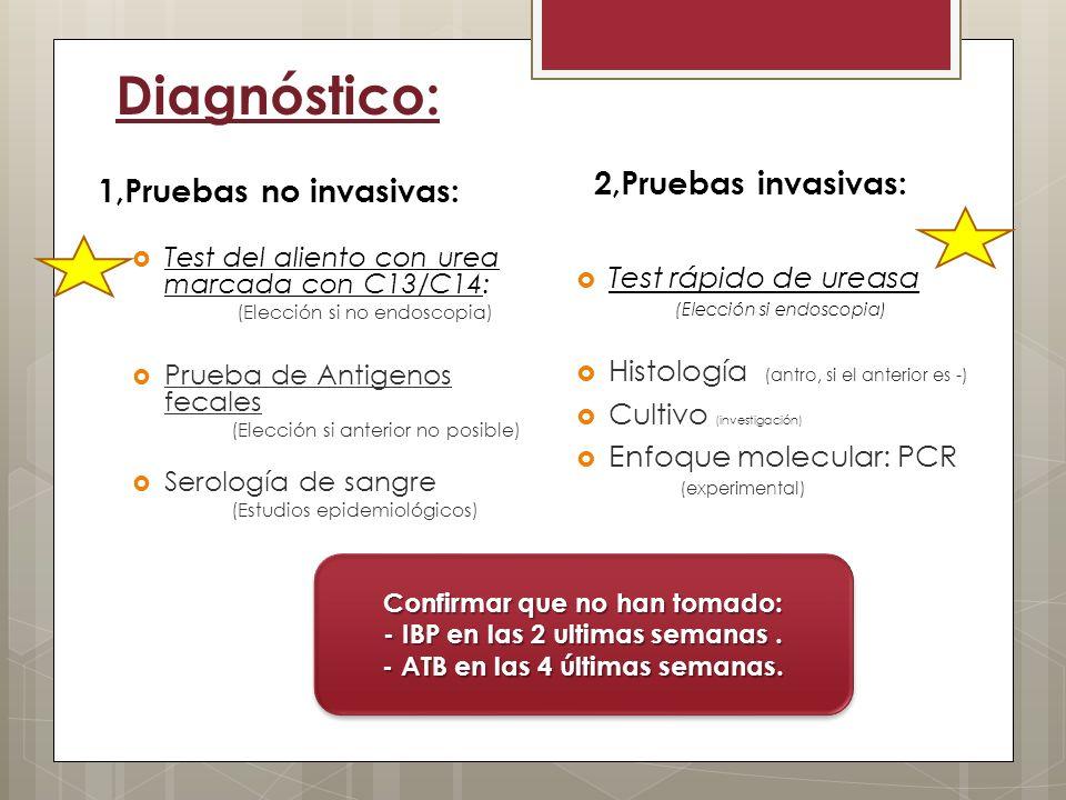 Diagnóstico: 2,Pruebas invasivas: 1,Pruebas no invasivas: