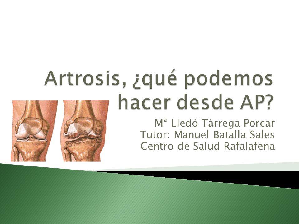 Artrosis, ¿qué podemos hacer desde AP