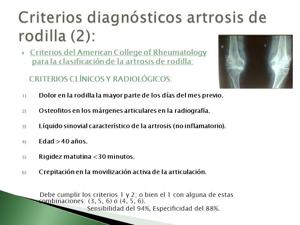 Criterios diagnósticos artrosis de rodilla (2):