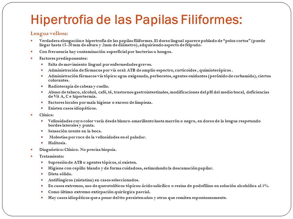 Hipertrofia de las Papilas Filiformes: