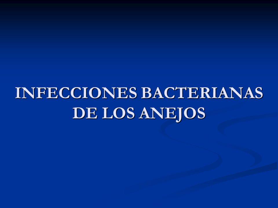 INFECCIONES BACTERIANAS DE LOS ANEJOS