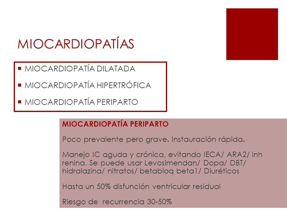 MIOCARDIOPATÍAS MIOCARDIOPATÍA DILATADA MIOCARDIOPATÍA HIPERTRÓFICA
