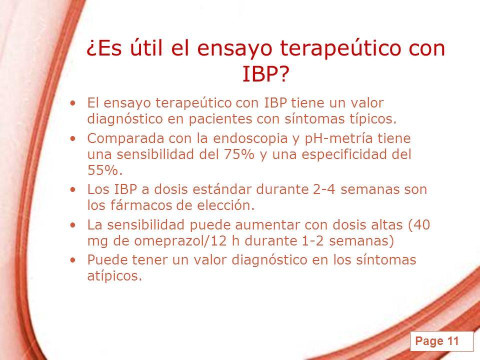 ¿Es útil el ensayo terapeútico con IBP