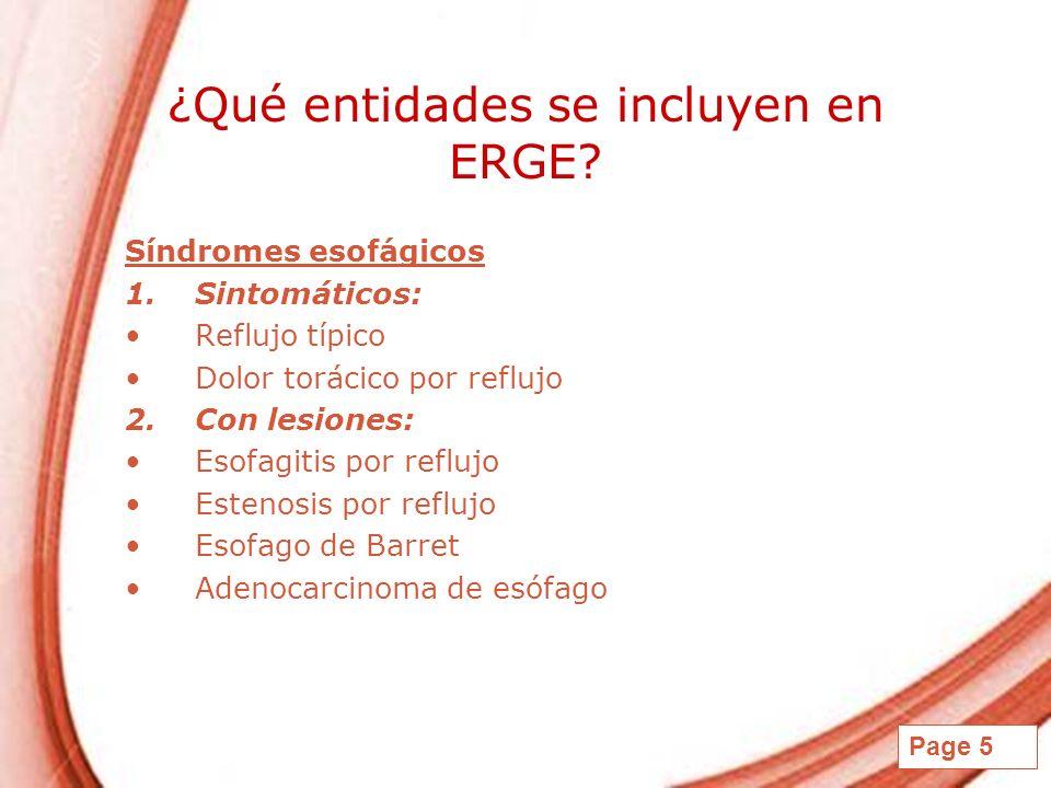 ¿Qué entidades se incluyen en ERGE