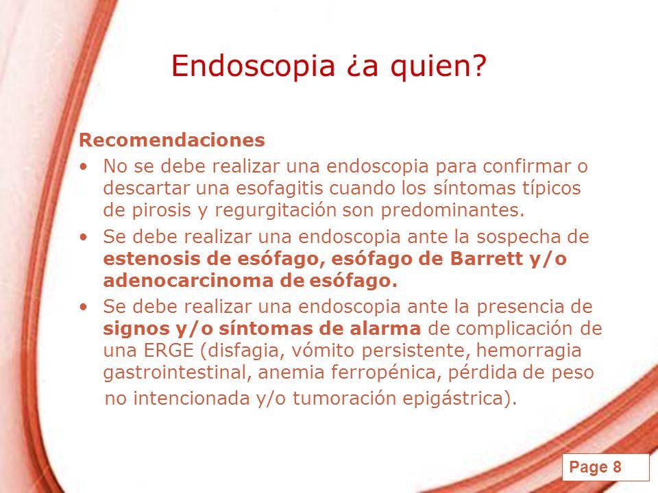 Endoscopia ¿a quien Recomendaciones