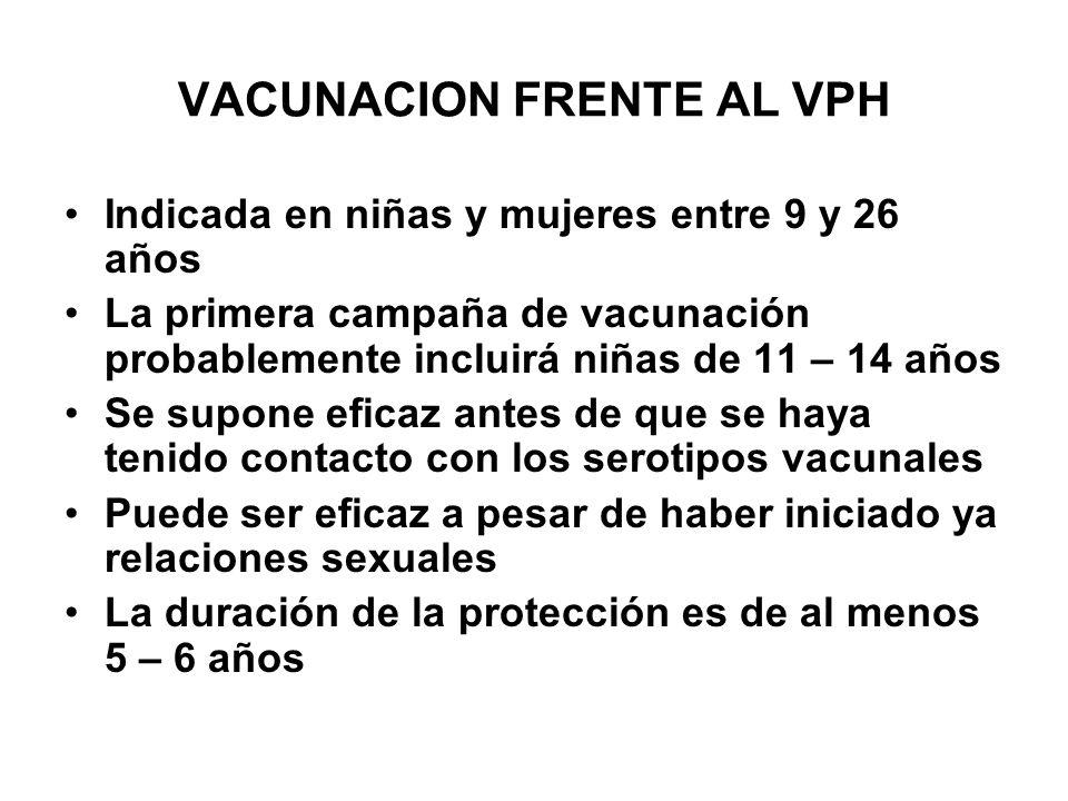 VACUNACION FRENTE AL VPH