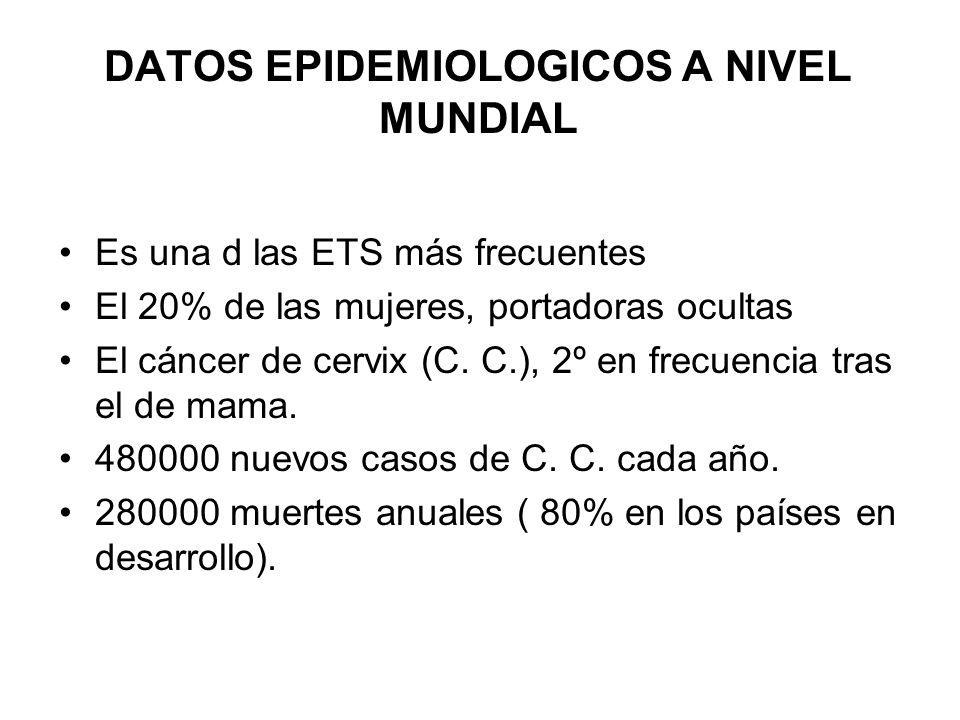 DATOS EPIDEMIOLOGICOS A NIVEL MUNDIAL