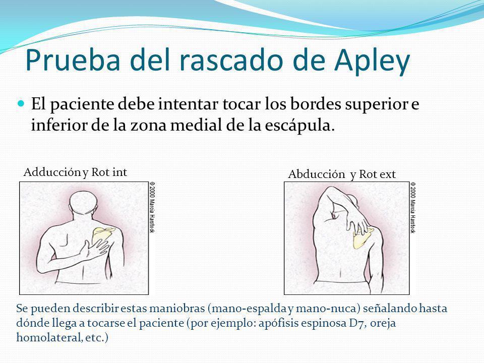 Prueba del rascado de Apley