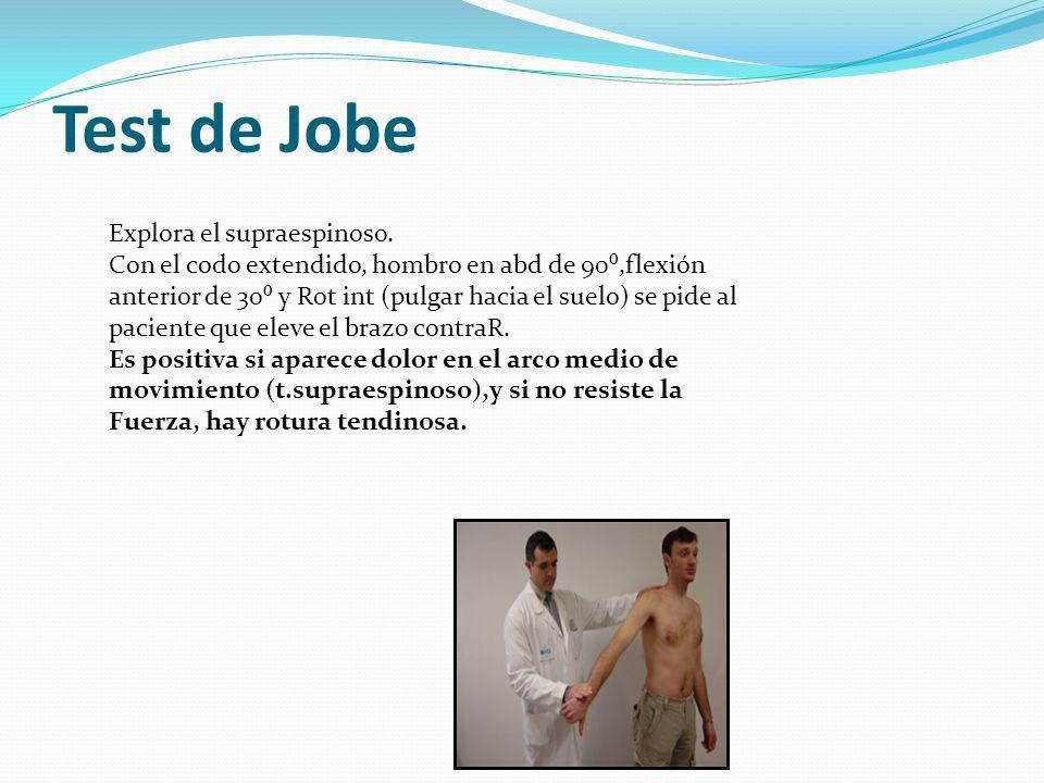 Test de Jobe Explora el supraespinoso.
