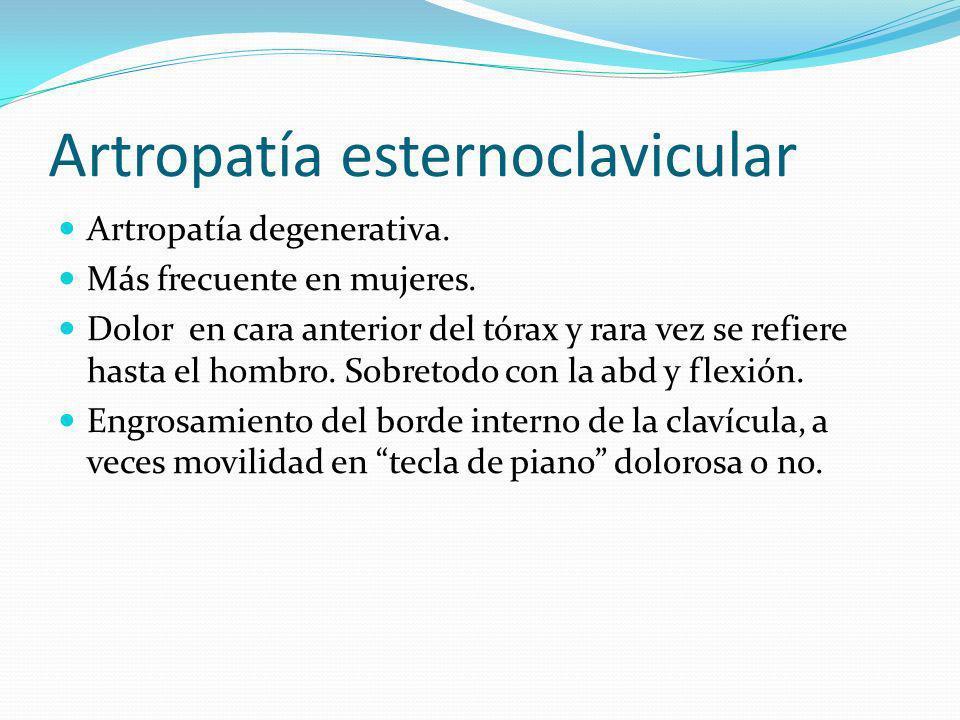Artropatía esternoclavicular