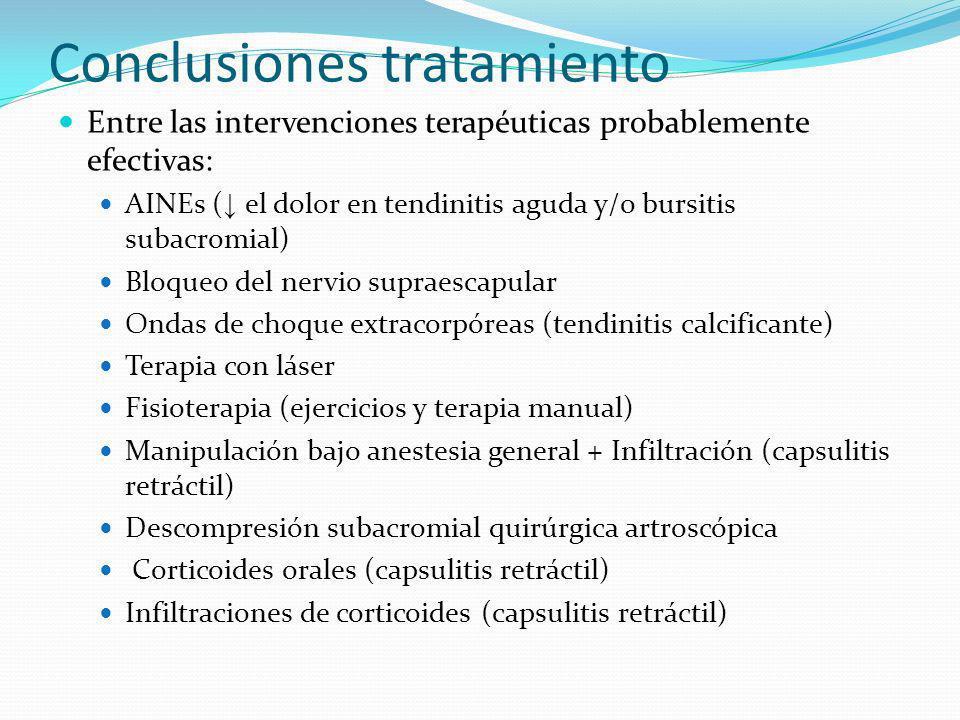Conclusiones tratamiento