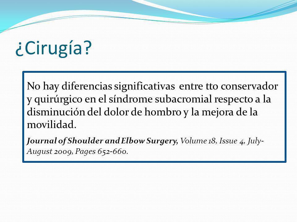 ¿Cirugía