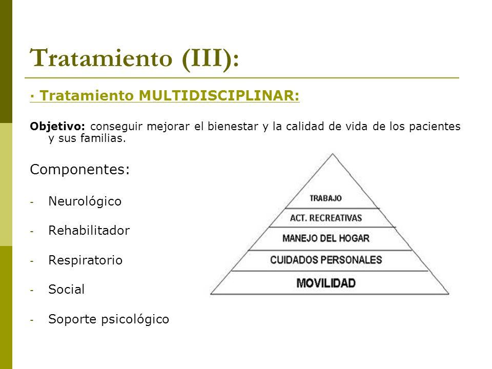 Tratamiento (III): · Tratamiento MULTIDISCIPLINAR: Componentes: