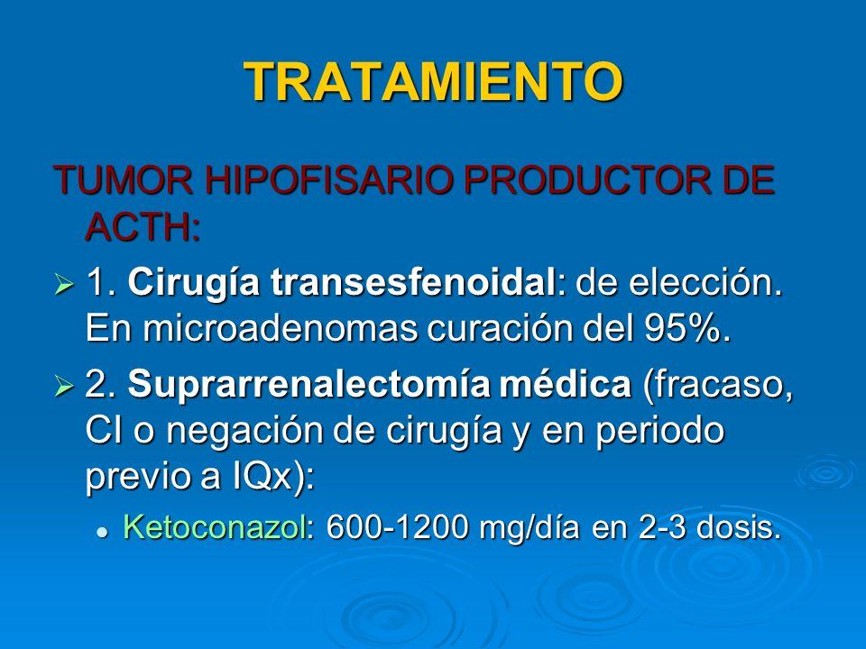 TRATAMIENTO TUMOR HIPOFISARIO PRODUCTOR DE ACTH:
