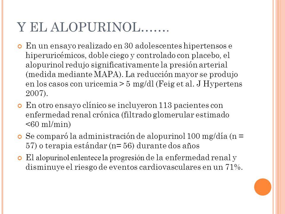 Y EL ALOPURINOL…….