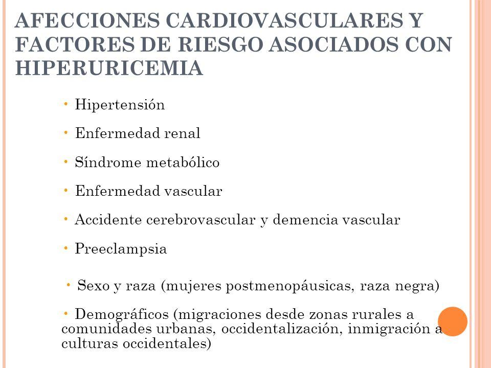 AFECCIONES CARDIOVASCULARES Y FACTORES DE RIESGO ASOCIADOS CON HIPERURICEMIA