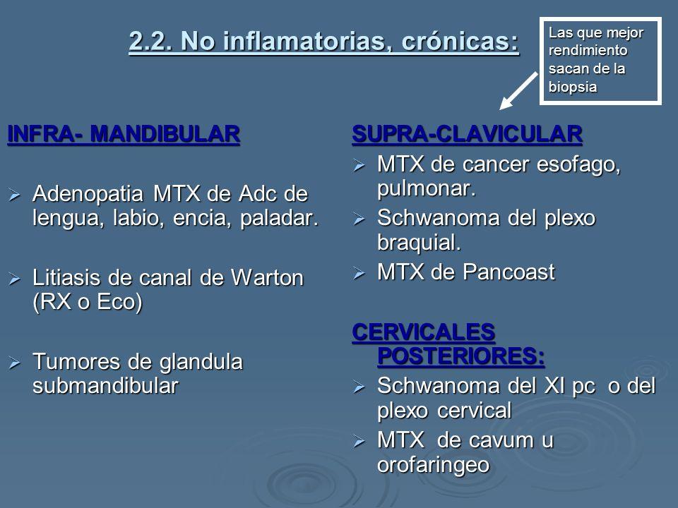 2.2. No inflamatorias, crónicas: