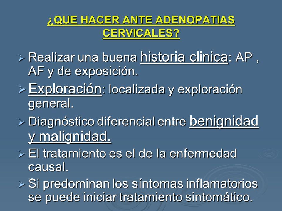 ¿QUE HACER ANTE ADENOPATIAS CERVICALES