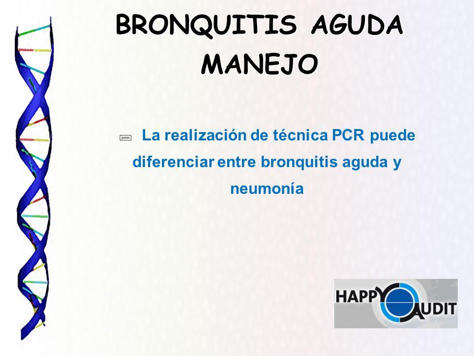 BRONQUITIS AGUDA MANEJO