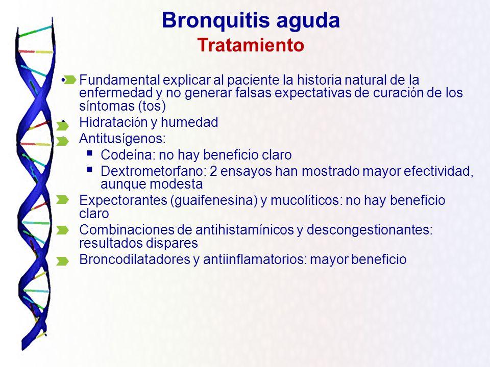 Bronquitis aguda Tratamiento