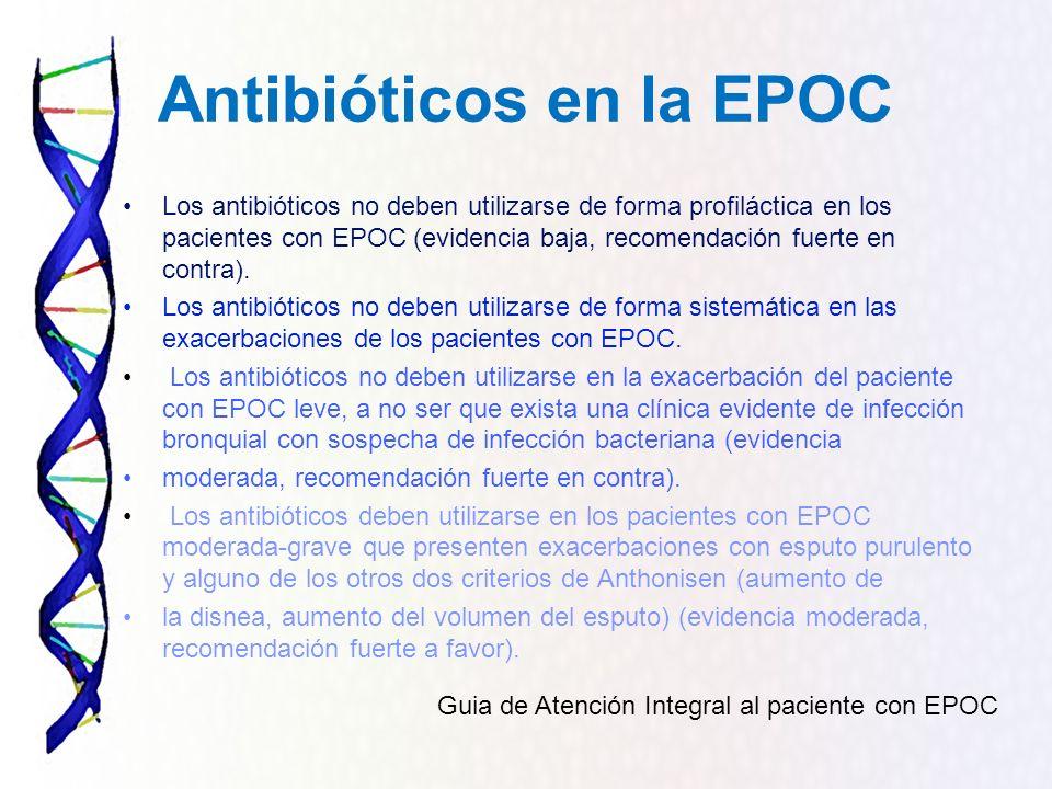 Antibióticos en la EPOC