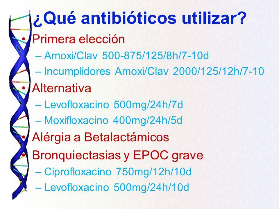 ¿Qué antibióticos utilizar