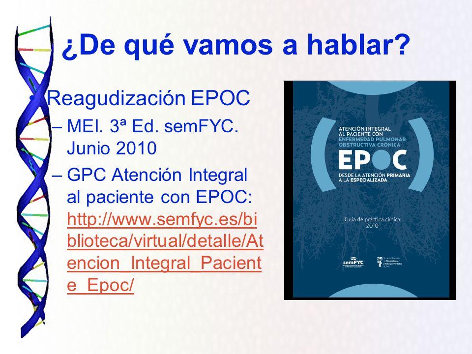 ¿De qué vamos a hablar Reagudización EPOC
