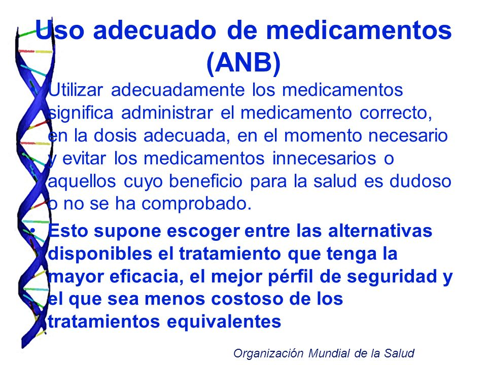 Uso adecuado de medicamentos (ANB)