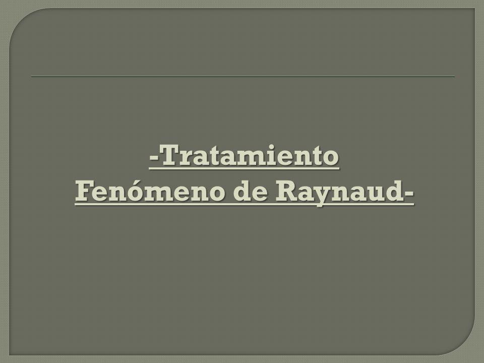 -Tratamiento Fenómeno de Raynaud-
