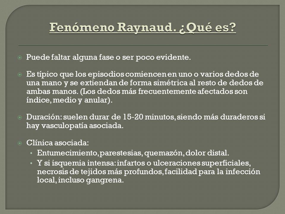 Fenómeno Raynaud. ¿Qué es
