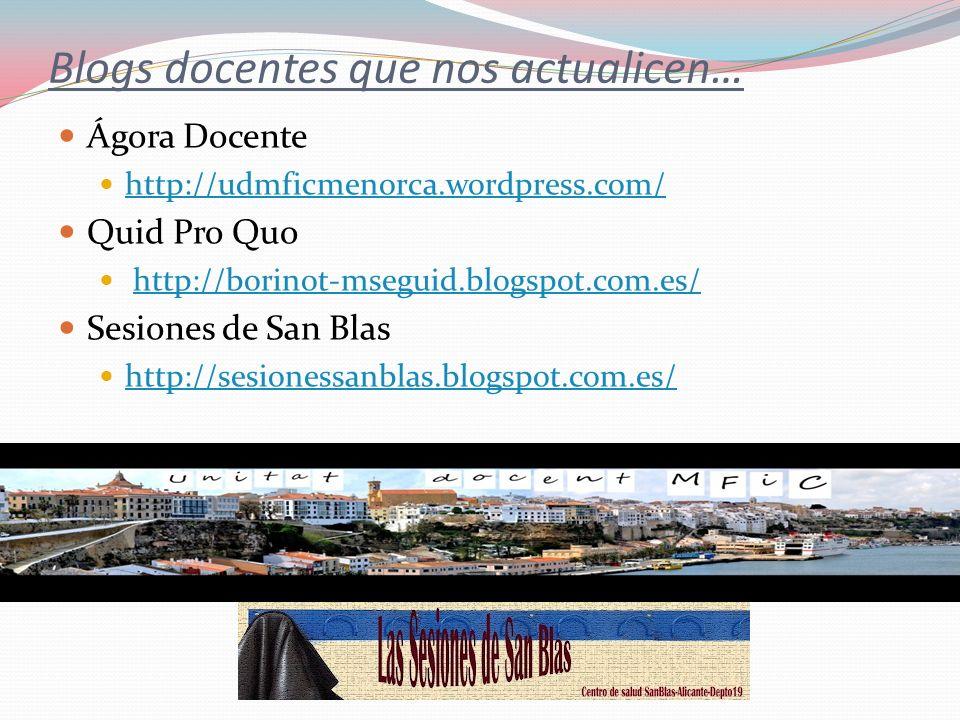 Blogs docentes que nos actualicen…