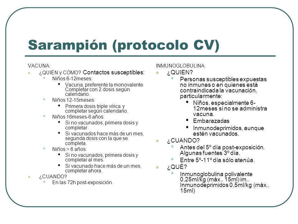 Sarampión (protocolo CV)