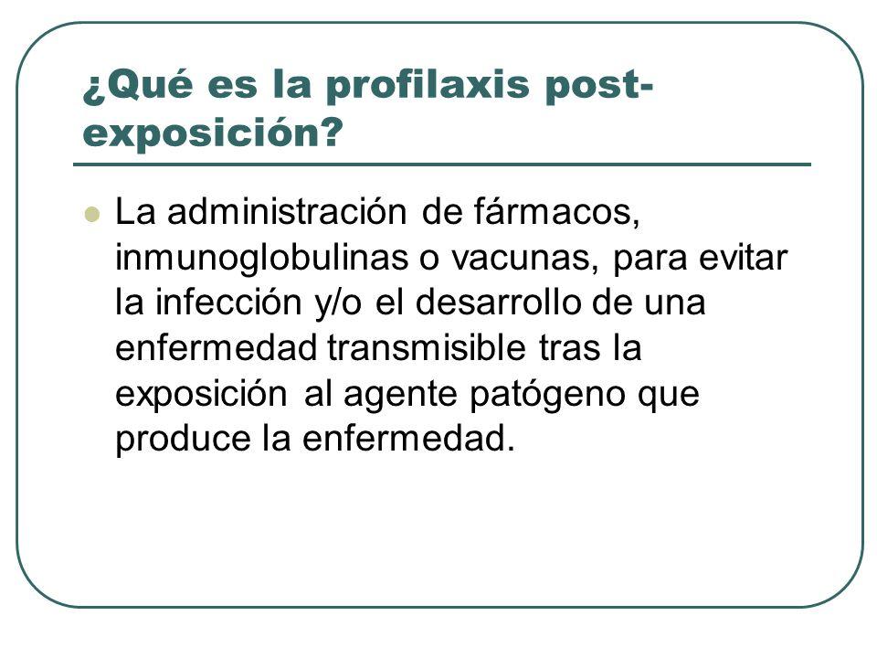 ¿Qué es la profilaxis post-exposición