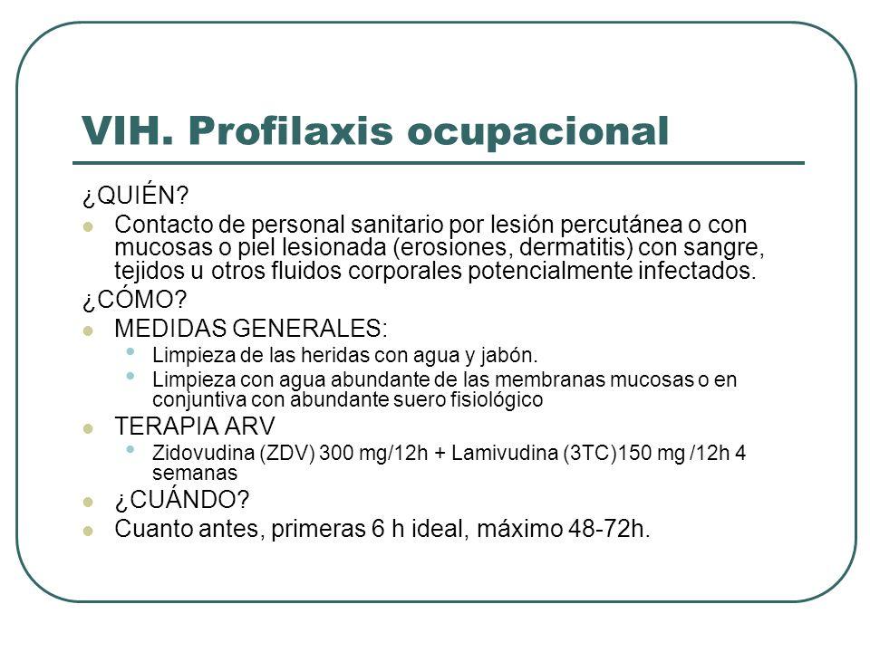 VIH. Profilaxis ocupacional