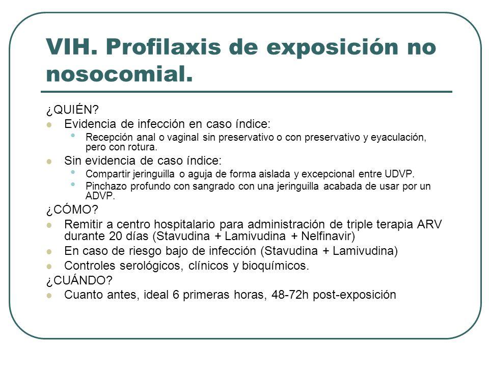 VIH. Profilaxis de exposición no nosocomial.