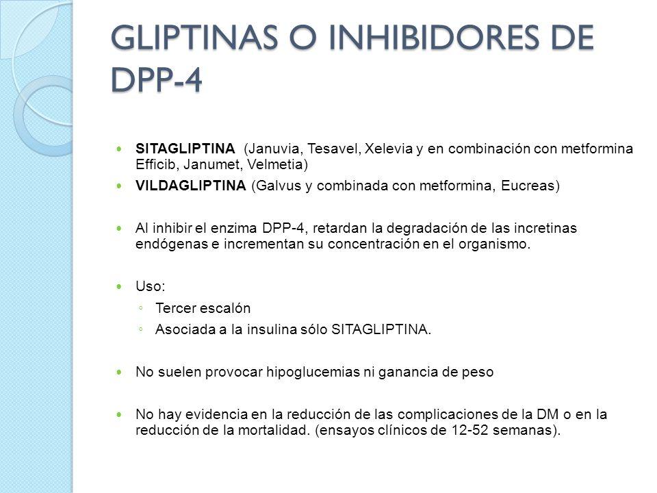 GLIPTINAS O INHIBIDORES DE DPP-4