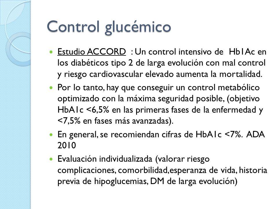 Control glucémico