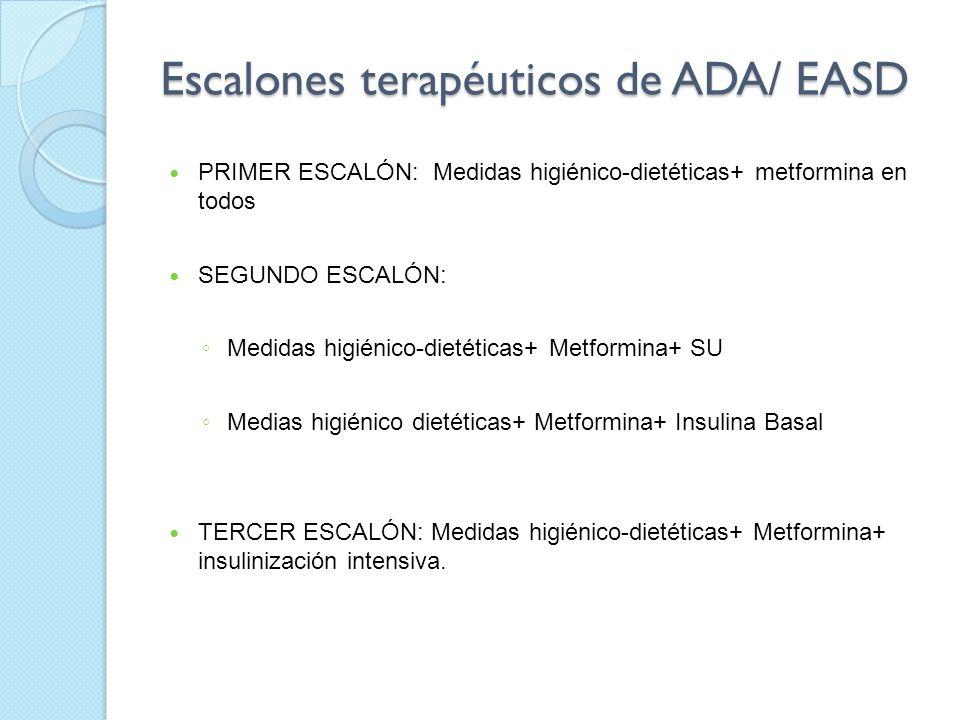Escalones terapéuticos de ADA/ EASD