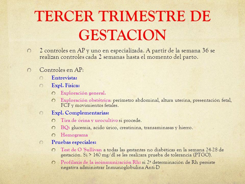 TERCER TRIMESTRE DE GESTACION