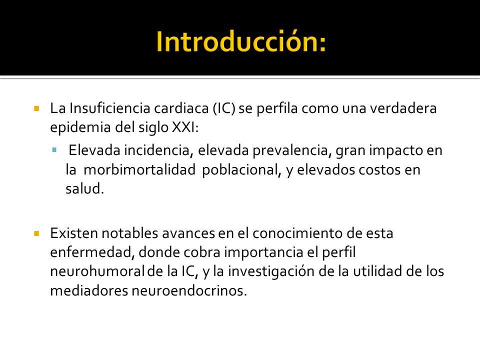 Introducción:La Insuficiencia cardiaca (IC) se perfila como una verdadera epidemia del siglo XXI: