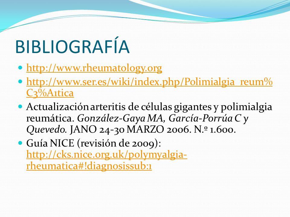 BIBLIOGRAFÍA http://www.rheumatology.org