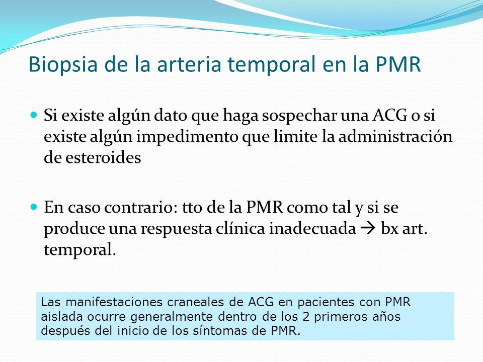 Biopsia de la arteria temporal en la PMR