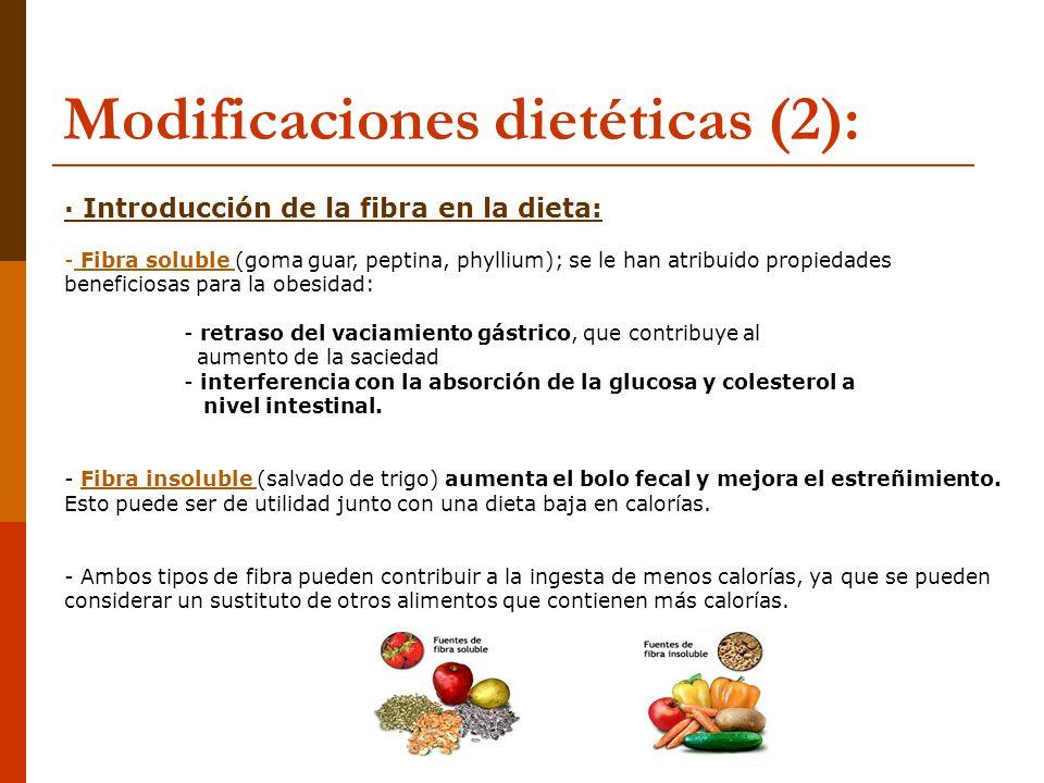 Modificaciones dietéticas (2):